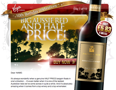 Virgin Wines - E-mail Marketing Samples - 2010