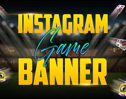 Instagram casino GAME banner