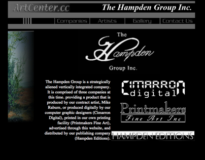 Hampden Group Website (ArtCenter.cc)