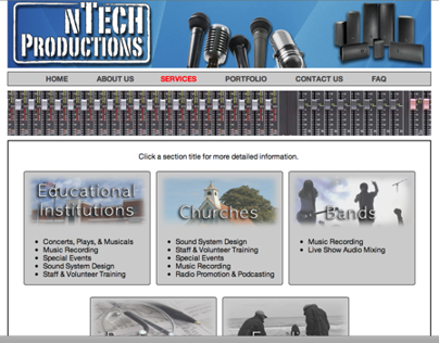 nTech Productions Website
