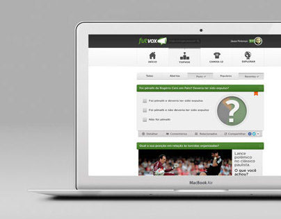 Futvox User Interface