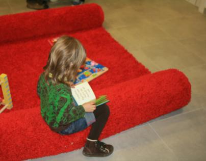 Alfombra infantíl, librería Abracadabra