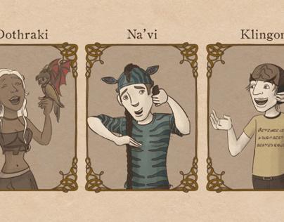 Are Elvish, Klingon, Dothraki and Na'vi real languages?