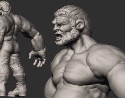 Combat engineer from concept art to 3D asset