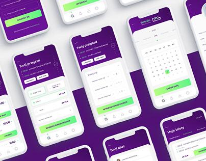 Train tickets mobile app UI/UX