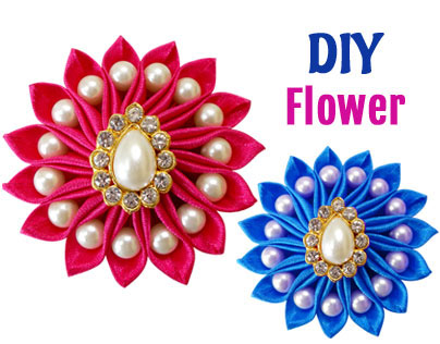DIY Sewing Project : How To Make Satin Ribbon Flower
