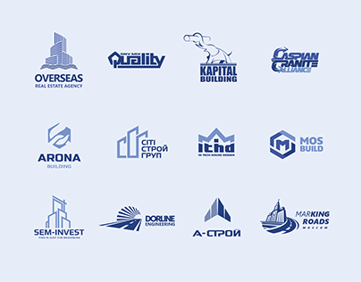 My logo collection for construction companies