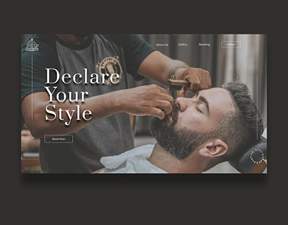 Barbershop Website Design by Irvin Guadarrama