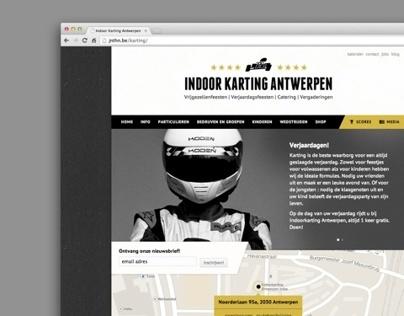 Indoorkarting Antwerpen Website