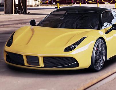 Ferrari 488 GTB - 3D modeling - Blender3D