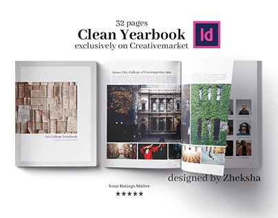 Clean Yearbook Design