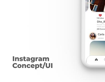 Instagram Concept/UI