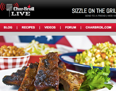 Sizzle On The Grill Email Design (Char-Broil)