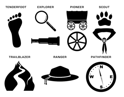 Hiker's Guide Icons