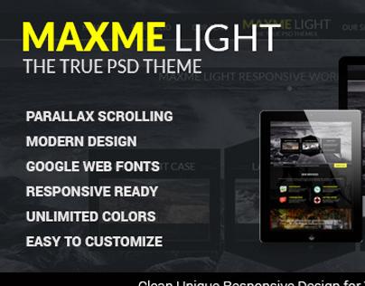 Maxme Lite - Single Page PSD