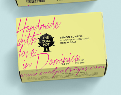 Brand identity and packaging for caribbean soaps