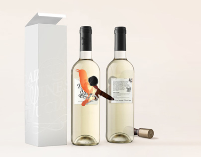 Brand identity and label design for caribbean wines