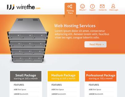 Webhosting site design