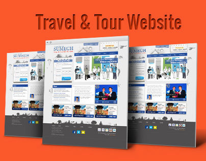 Travel and tours website design