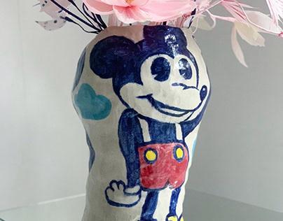 Mickey vases