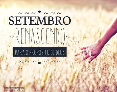 Banner - Setembro, renascendo para o propósito de Deus