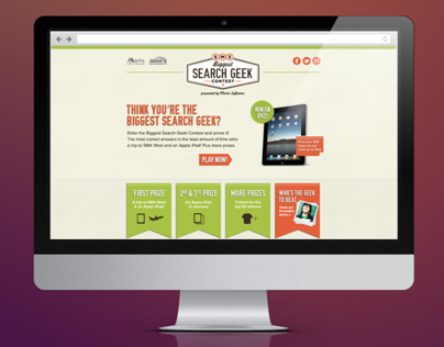 Biggest Search Geek Microsite