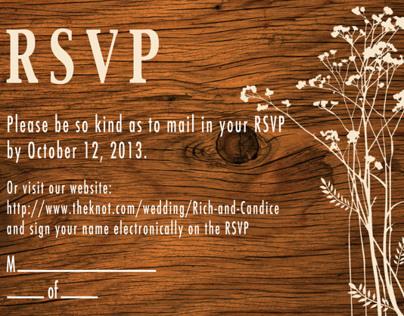 Forest Wedding Invites