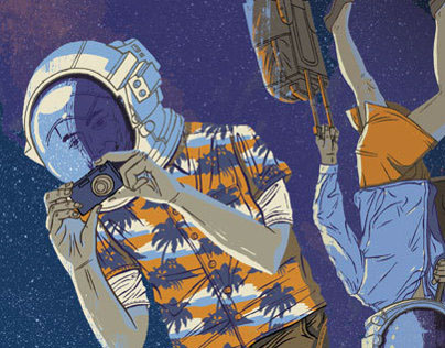 Science-related editorial illustrations