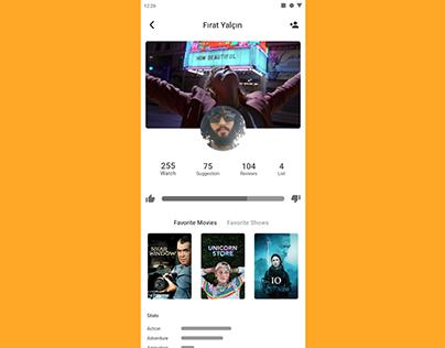 Movie Social Media Profile Page Design & Prototype