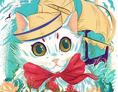 Sailor Kitty Print
