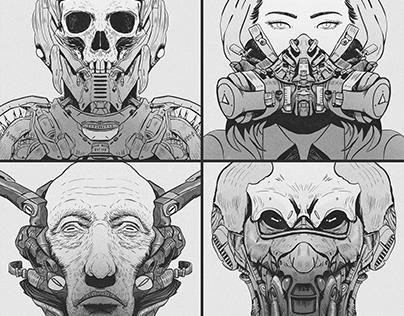 Sketchbook - Symmetrical Portraits 02