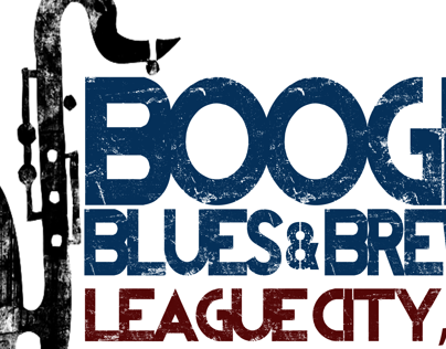 Boogie, Blues and Brews custom logo