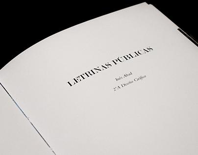 Letrinas publicas, street alphabet