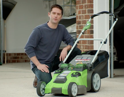 Video: GreenWorks™ Twin Force Cordless Mower - Lowe's