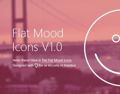 Flat Mood Icons