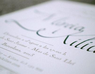 Mireia & Kilian wedding invitation