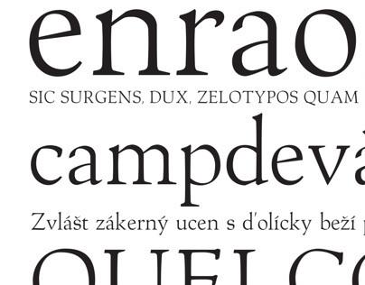 Menhart Antiqua typeface