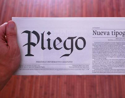 Pliego newspaper