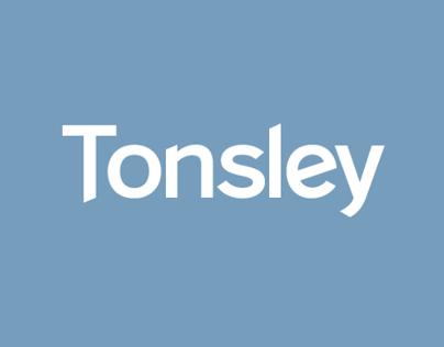 Tonsley custom typeface