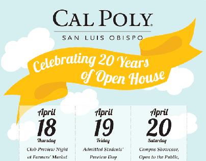 Cal Poly SLO Open House Poster & Postcard Design