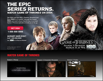 Game of Thrones Landing Page