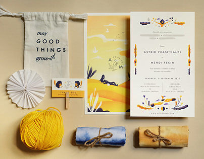Astrid & Mehdi Wedding Invitation