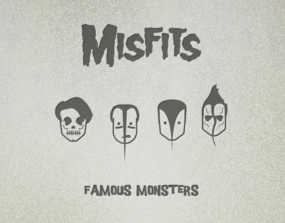 The Misfits Icon Set (Famous Monsters)