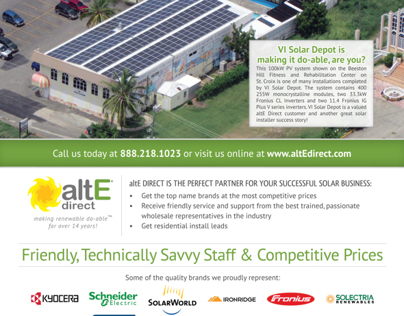 Full-page Ad for altE in SolarPro Magazine