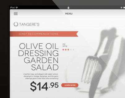 Tangere Technology Touch 2 Order Ipad Menu App