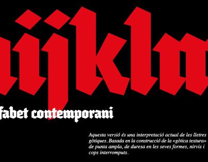 Tipografía Lullius Textura