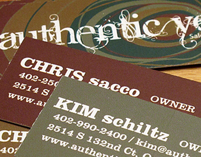 authentic you business cards