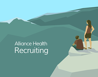 Recruiting illustration and brochures.