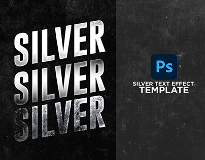 Silver Text Effect Template | Free Download