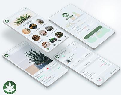 Plants buying app UI/UX design
